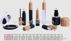 eco-friendly wooden bamboo MAKE-UP SERIES:LIP GLOSS/ COMPACT/ EYELINER /MASCARA /LIPSTICK /FOUNDATION BOTTLE/LIP STICK\