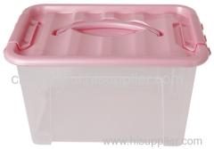 ロック付きホット販売高品質のカラフルなプラスチック製の収納ボックス