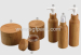 eco-friendly wooden bamboo cosmetic packaging 350ML PET BAMBOO JAR BAMBOO BOTTLE