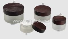 ASH WOODEN CAP GLASS CREAM JAR