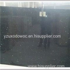 Man Made Stone Black Galaxy Quartz Stone Slabs