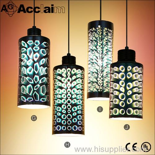 New design 3D art glass chandelier modern chandeliers/pendant light/lamp for home 3D glass chandelier