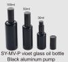 press pump dropper oil bottle 100ml PLASTIC bottle dropper