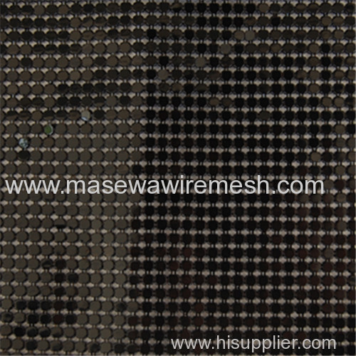 black metallic cloth drapery