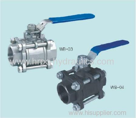 3PC female thread ball valve