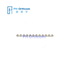 Titanium Mini Plate thickness 1.0mm 12 holes without bridge System 2.0 medical implant for Cranio-Maxillo-facial Surgery