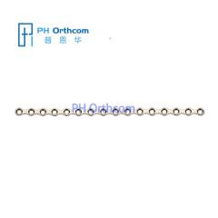 Titanium Mini Plate thickness 1.0mm 16 holes without bridge System 2.0 medical implant for Cranio-Maxillo-facial Surgery