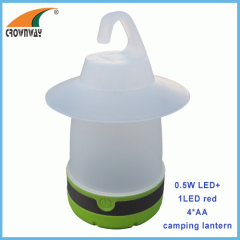 0.5W LED camping lantern high power portable lamp hook tent lamp 4*AA battery