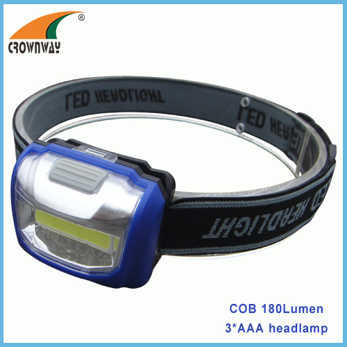 3W COB headlamp 250Lumen high power headlight 3*AAA headlamp outdoor camping lamps fishing light biking lamp