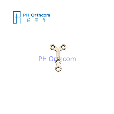 Titanium Mini Y-shaped Plate for Maxillofacial Surgery thickness 1.0mm 4 holes with short bridge