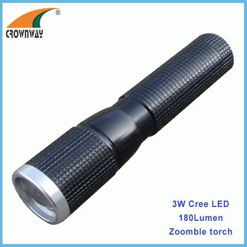 3W Cree Led flashlight Led 180Lumen high power torch portable lantern camping light 1*AA battery lamp