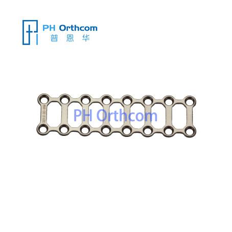 Титан Мини Квадратное & прямоугольная пластина для челюстно-лицевой хирургии толщиной 1,0 мм 16 отверстий