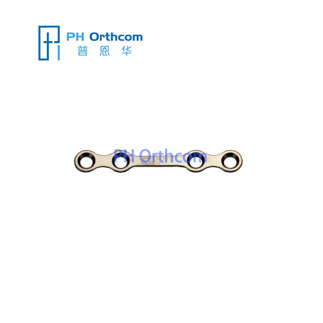 Титановый Средняя пластина для челюстно-лицевой хирургии плиты толщиной 0,8 мм 4 отверстия с моста