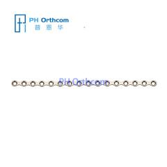 Титановый Средняя пластина для челюстно-лицевой хирургии плиты толщиной 0,8 мм 16 отверстий без моста