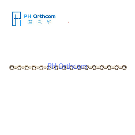 Titanium Medium Plate for Maxillofacial Surgery Plate thickness 0.8mm 16 holes without bridge