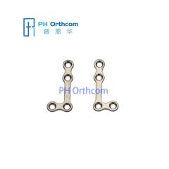 Титан Medium L-образная пластина для челюстно-лицевой хирургии толщиной 0,8 мм 4 отверстия с моста