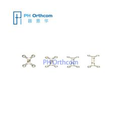 Титан Chin Пластина для челюстно-лицевой хирургии толщиной 0,8 мм 4 отверстия с моста
