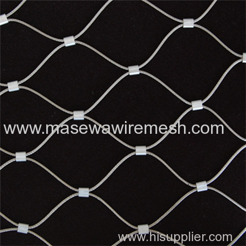 flexible stainless steel fence in the stadium