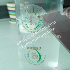 Custom High Quality Waterproof Transparent Self Destructive Sticker Label Security Clear Seal Stickers