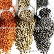 Lentils at very moderate prices.