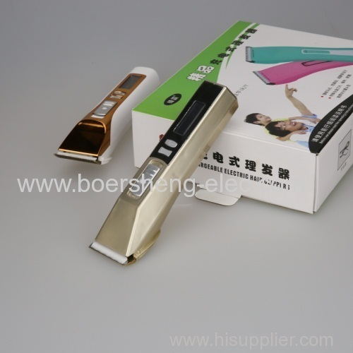 Electric Hair Trimmer in New Design with Low Noise and Easy to Operate Hair Trimmer with High Capacity Lithium Battery