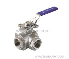 Ball Valve AISI316 3 Way
