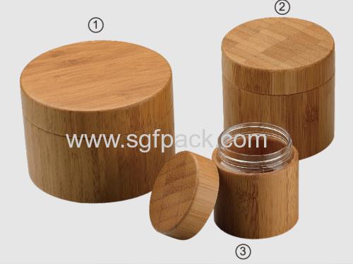 80ml Bamboo cream jar with inner PET jar