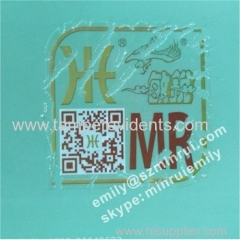 Custom Hidden Wesbsite security non removable fragile destructible QR code Stickers with logo printed