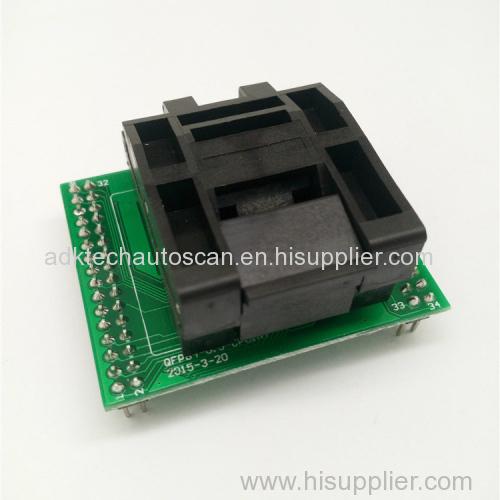 0.5mm QFP48 burn-in test socket TQFP48 LQFP48 to DIP48 programmer adapter