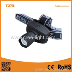 T27B Good quality LED Headlight 3*AAA 120lumens LED Zoom Headlamp