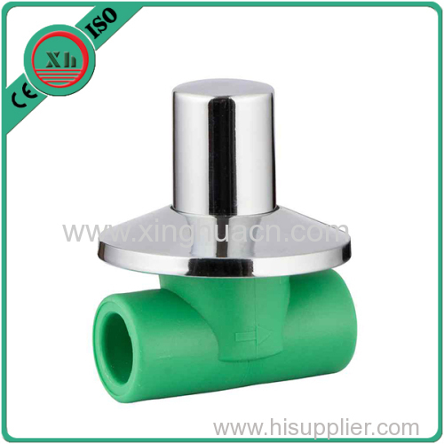 PP-R heavy stop valve for hot water