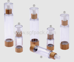 HOT SELL 20ML airless Natural bamboo pp lotion pump 20/30/50/80/100/120ML
