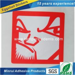 Custom Red Eggshell Sticker From China top Destructible label material Factory with high quality and low price