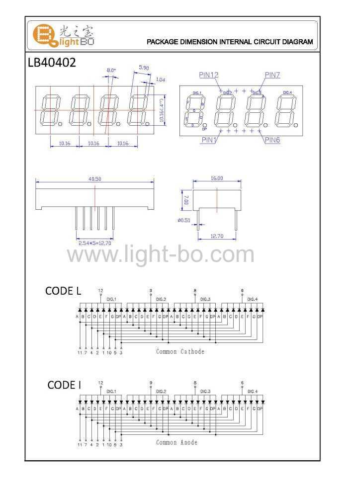 four digit 0 4 u0026quot   10 16mm  seven segment led display