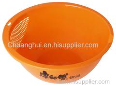 新しいデザインプラスチック米洗濯バスケット/ドレインバスケット