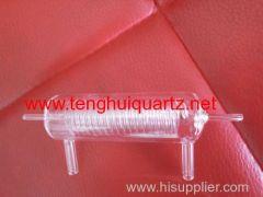 tubo di vetro di quarzo trasparente