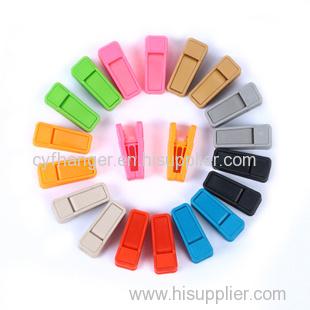 Plastic flocked spring clips