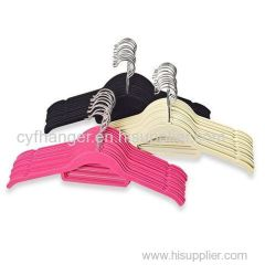 42.5cm ABS velvet skirt hanger non-slip space saver
