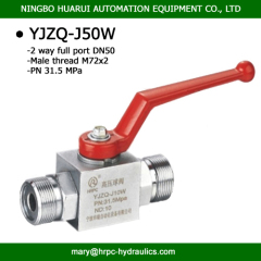 domestic standard M64X2 female thread or M72X2 high pressure ball valve with welded connection