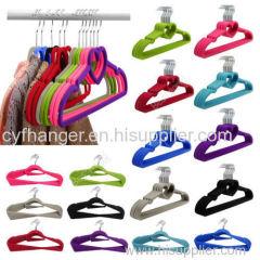 Heart with ident design plastic flocked hanger for skirt/suit-dress/frock/sun-top