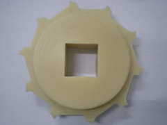 Plastic wheel for RTB roller top modular conveyor belting