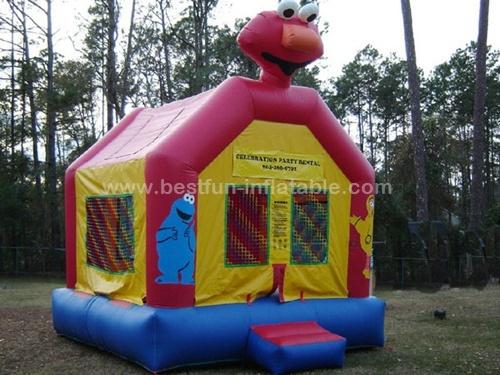 Famouse cartoon elmo inflatable bounce house