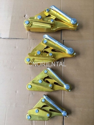 overhead power line conductor gripping come along clamp