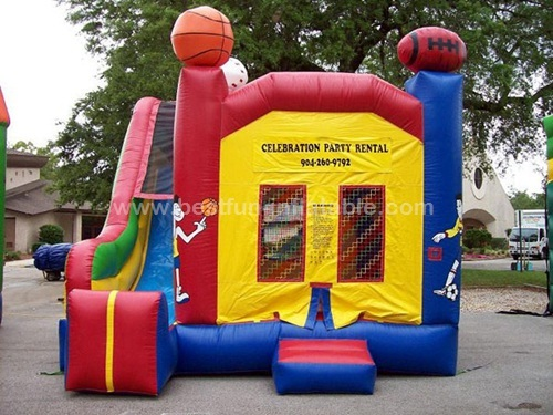 4 in 1 sports bouncer slide inflatable combo