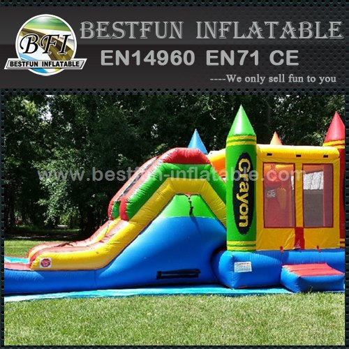 Children inflatable Crayola slide Combo