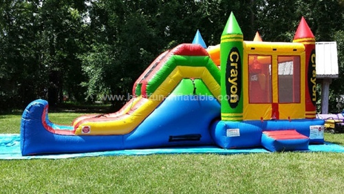 Attractive colorful crayola inflatable bouncer combo