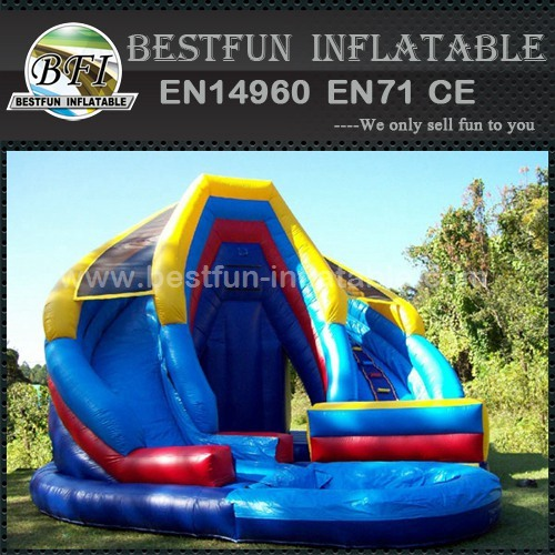 Adult inflatable slide wet or dry king twist