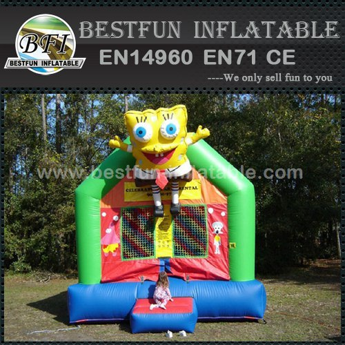 Funny jumping SpongeBob inflatable jumper