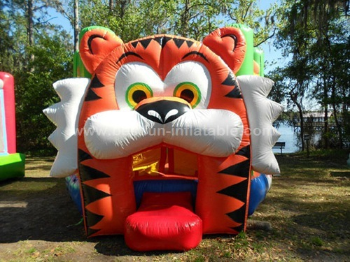Tiger bounce house inflatable for rental