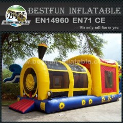 Train inflatable bounce obstacle
